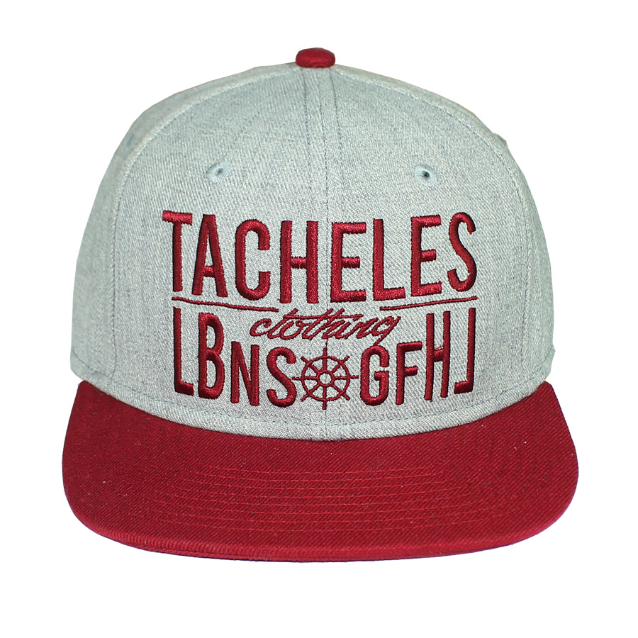 6-Panel Snapback 2 Color Cap Embroidered